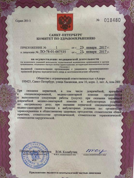 Лицензия на оказание помощи